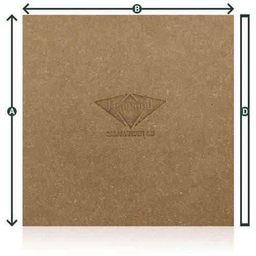 Diamond leather pad salamander 180 x 180 x 4.6